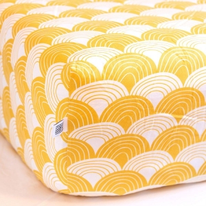 Hoeslaken Mustard Yellow van Swedish Linens