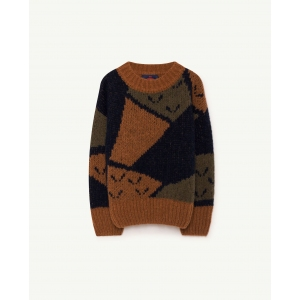 Arty Bull Kids Sweater Deep Brown van The Animals Observatory