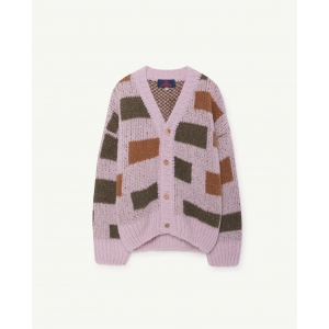Arty Peasant Kids Cardigan Purple van The Animals Observatory