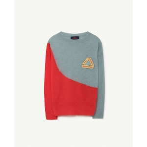 Bicolor Bull Kids Sweater Soft Blue van The Animals Observatory