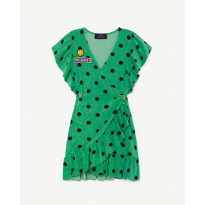 Whale Dress Green Polka Dots van The Animals Observatory