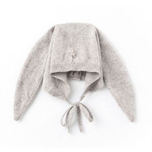Knitted Rabbit Ears Grey van Tocoto Vintage