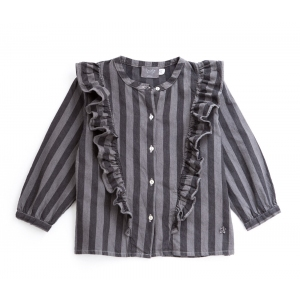 Striped Denim Girl Top van Tocoto Vintage